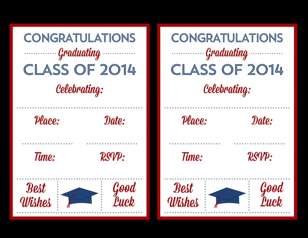 002 Graduation Invitation Templates Template Ideas Free Printable - Free Printable Graduation Invitations 2014
