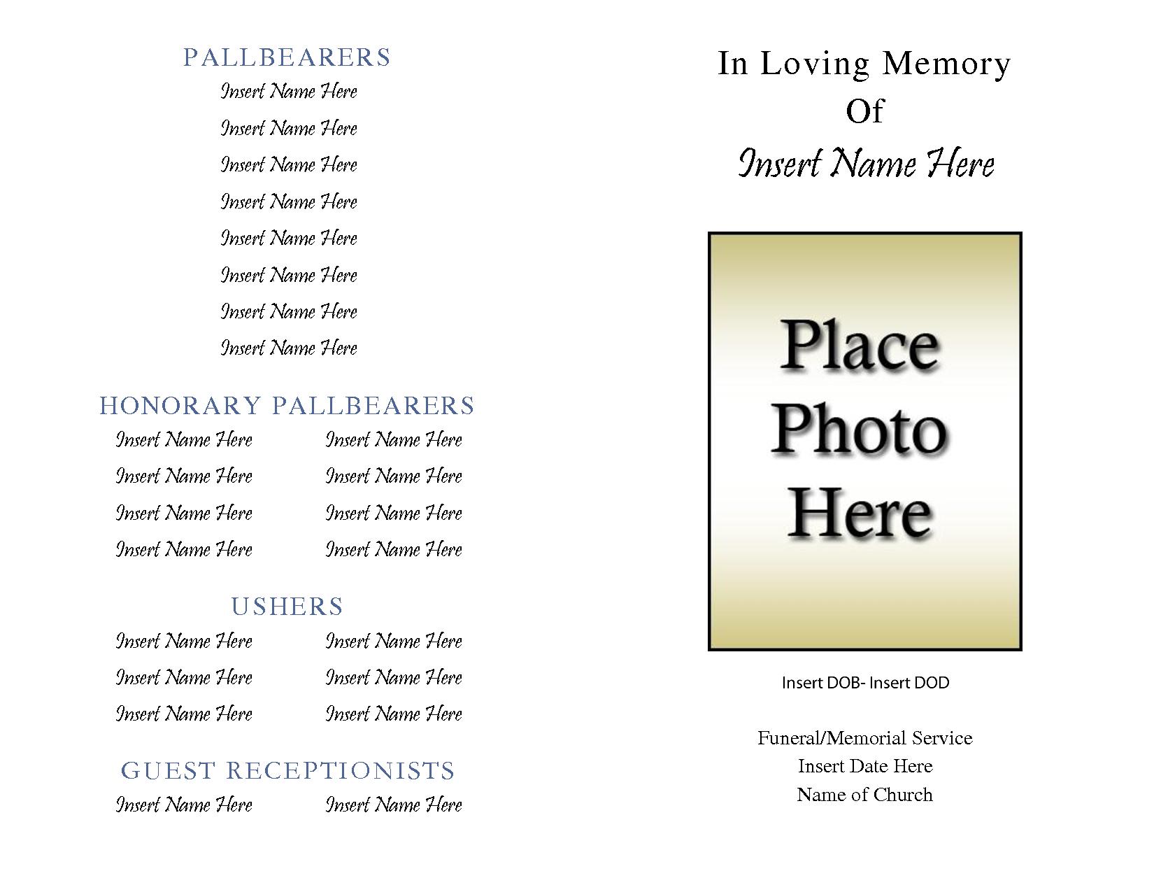 004 Free Printable Obituary Templates 463124 Template ~ Ulyssesroom - Free Printable Obituary