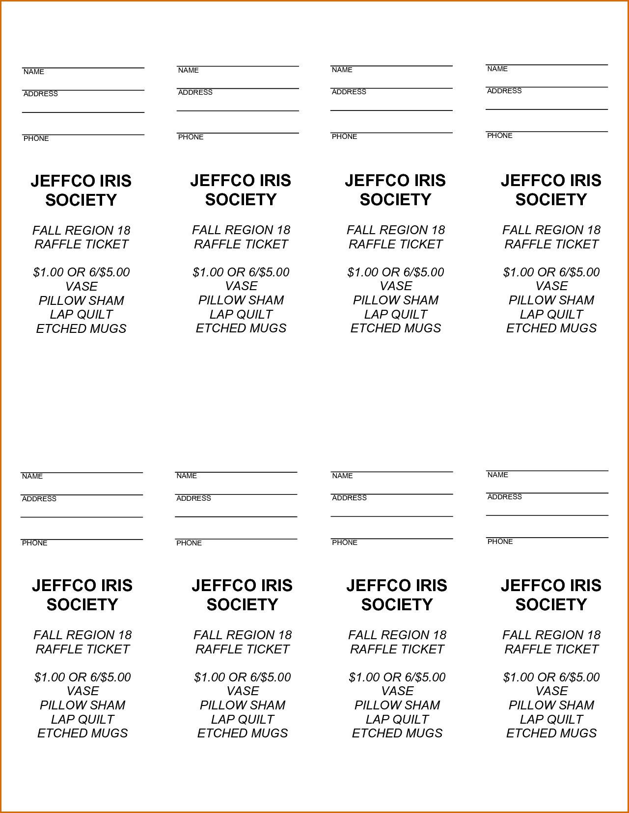 008 Free Printable Raffle Tickets Ticket Template ~ Ulyssesroom - Free Printable Raffle Tickets