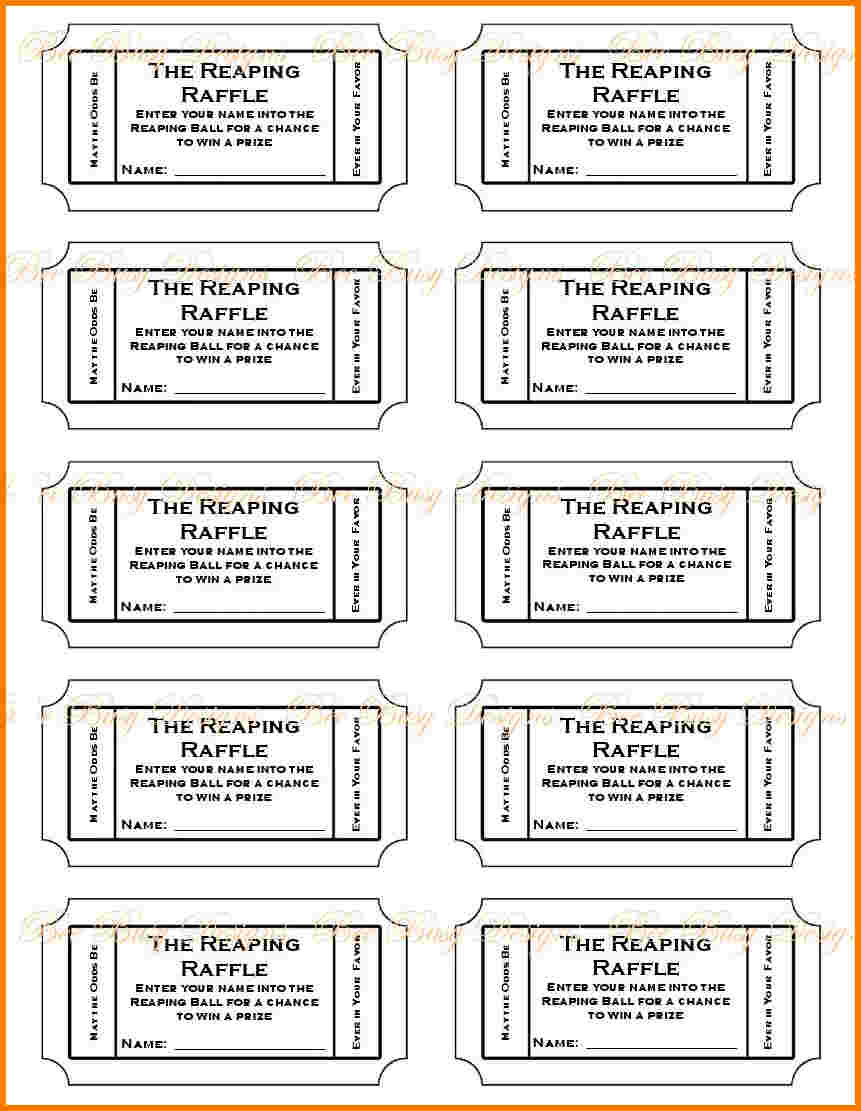 019 Free Printable Raffle Tickets P Template ~ Ulyssesroom - Free Printable Raffle Tickets