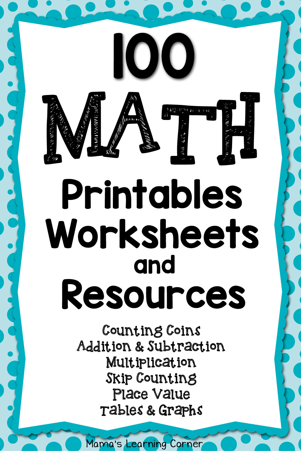 100 Math Printables And Resources - Mamas Learning Corner - Free Printable Math Mystery Picture Worksheets