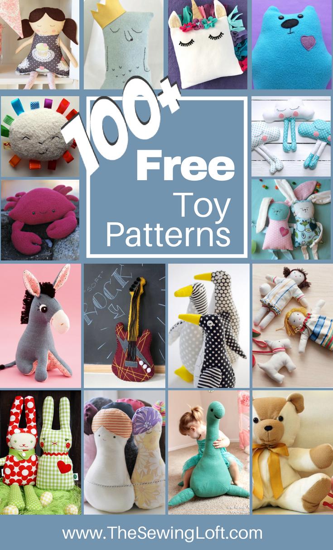 100+ Stuffed Toy Diy Patterns - The Sewing Loft - Free Printable Stuffed Animal Patterns