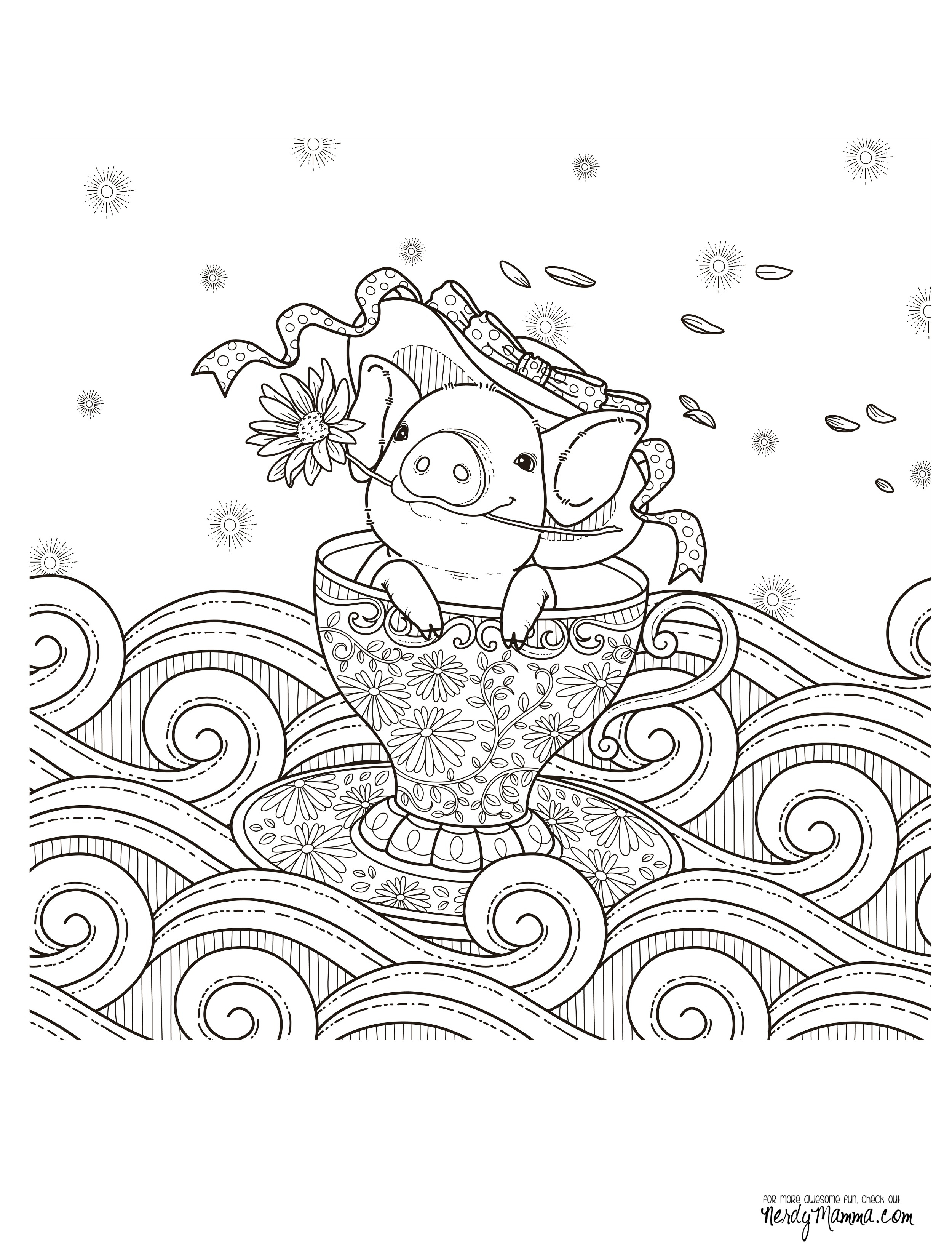 11 Free Printable Adult Coloring Pages - Free Printable Tea Cup Coloring Pages