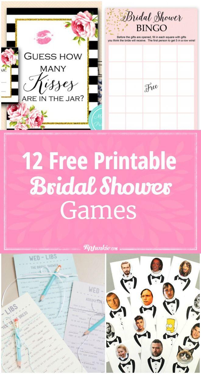 12 Free Printable Bridal Shower Games | Party Time | Pinterest - Wedding Emoji Pictionary Free Printable