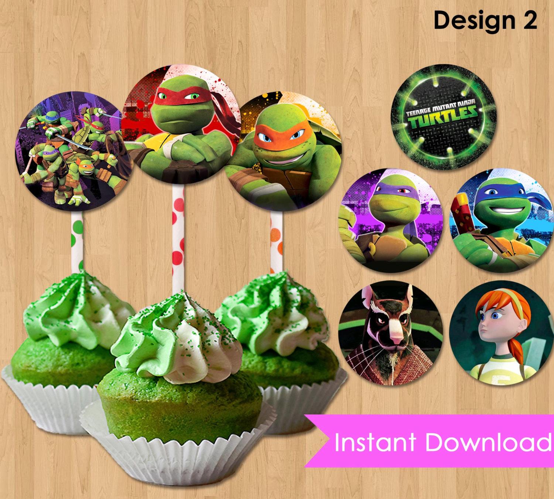 13 Teenage Ninja Turtles Cupcakes Topper Photo - Teenage Mutant - Free Printable Teenage Mutant Ninja Turtle Cupcake Toppers