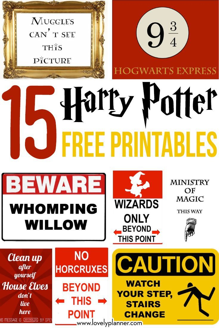 15 Free Harry Potter Party Printables - Part 1 | Maddison's 11Th - Free Harry Potter Printable Signs
