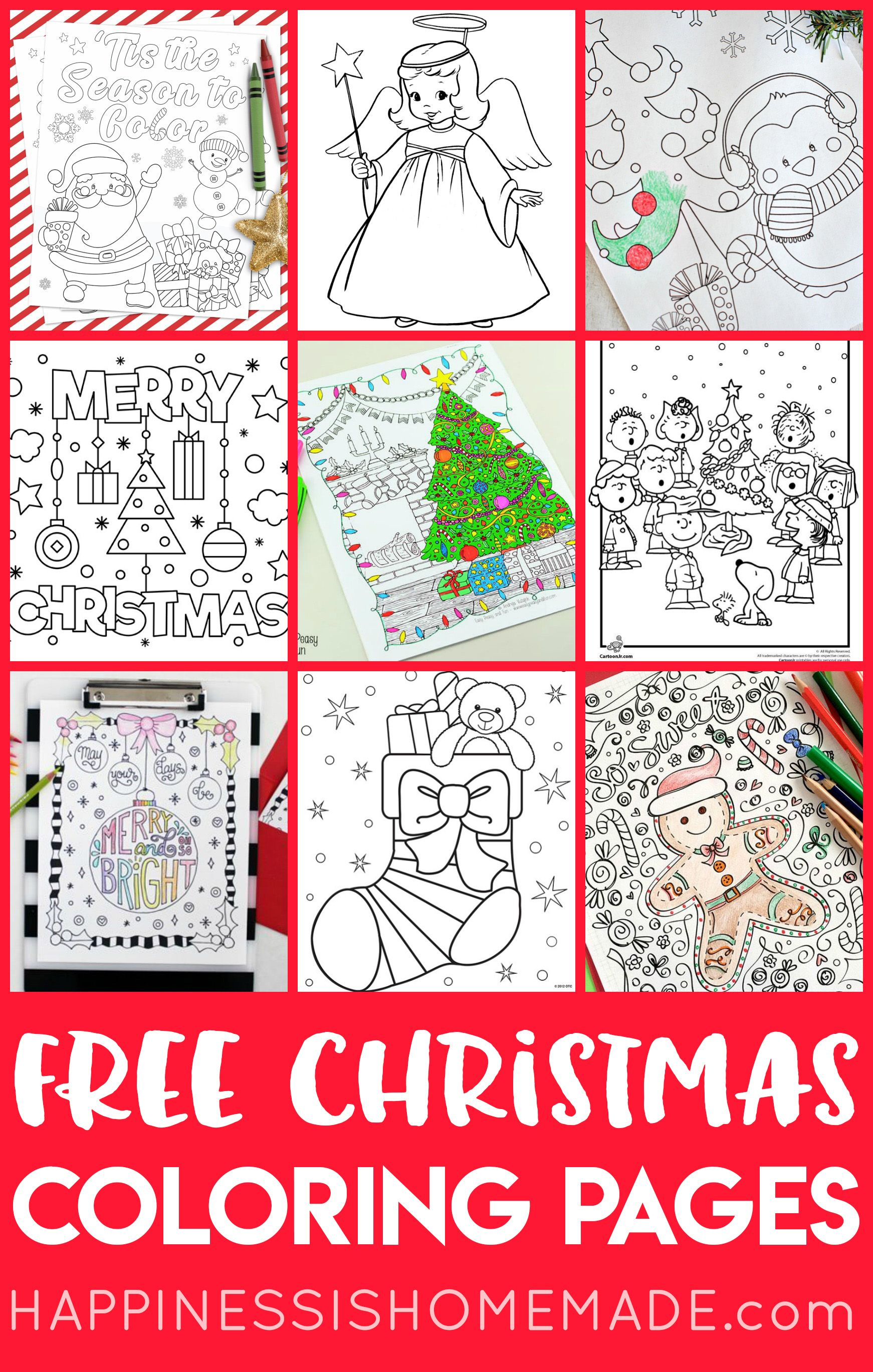 20+ Free Printable Christmas Coloring Pages For Adults & Kids - Free Printable Christmas Coloring Pages And Activities