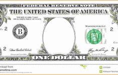 Free Printable Dollar Bill Template