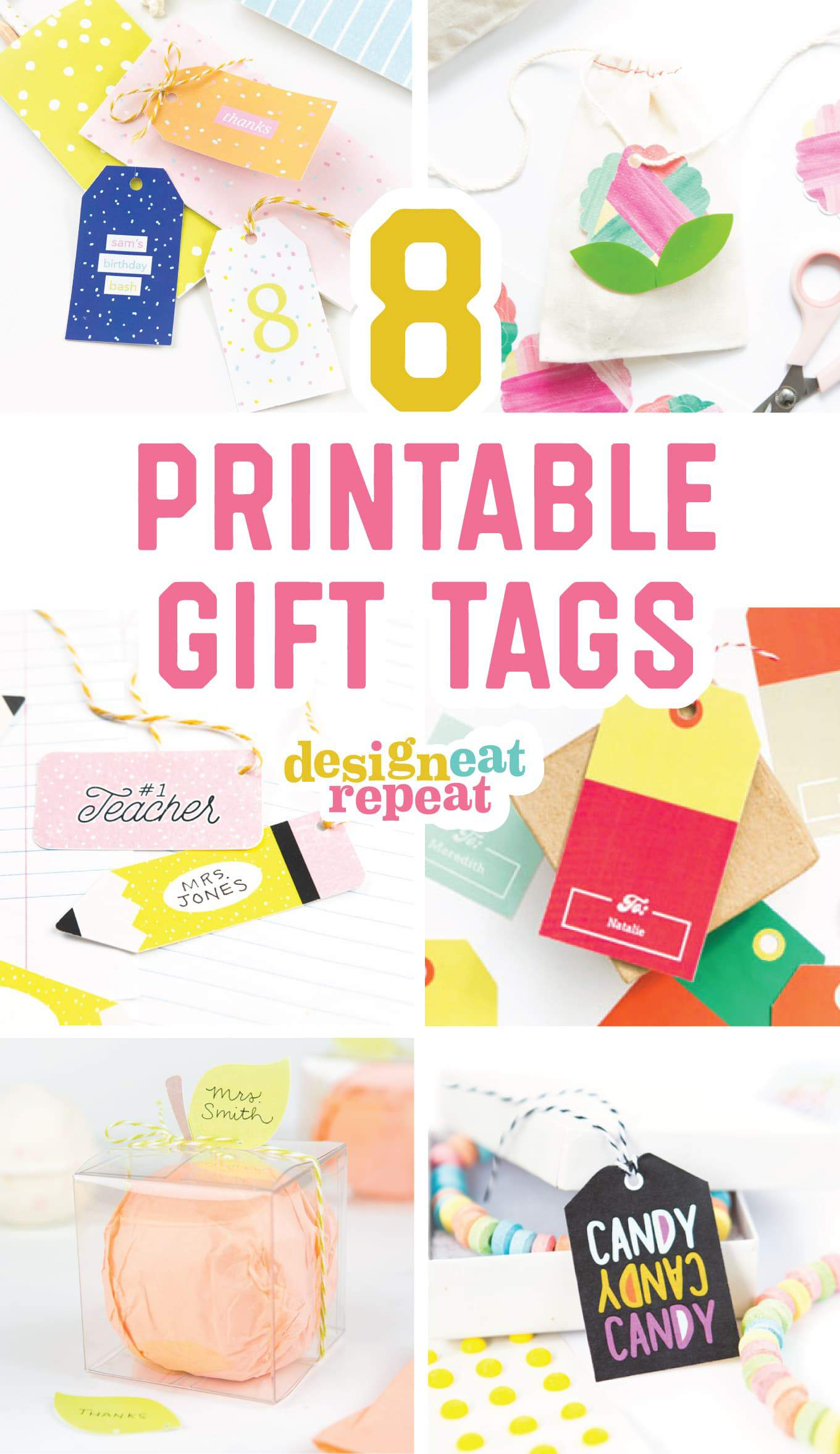 8 Colorful & Free Printable Gift Tags For Any Occasion! - Free Printable Goodie Bag Tags