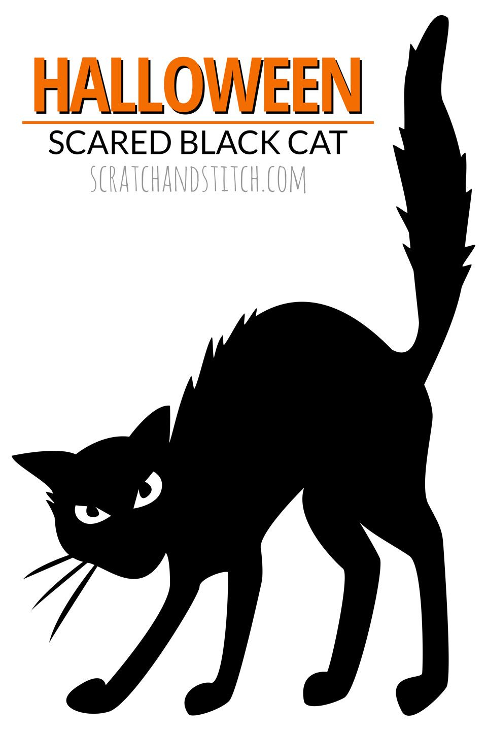 8 Easy Halloween Decor Ideas | Halloween Crafts & Decor | Pinterest - Free Printable Cat Silhouette