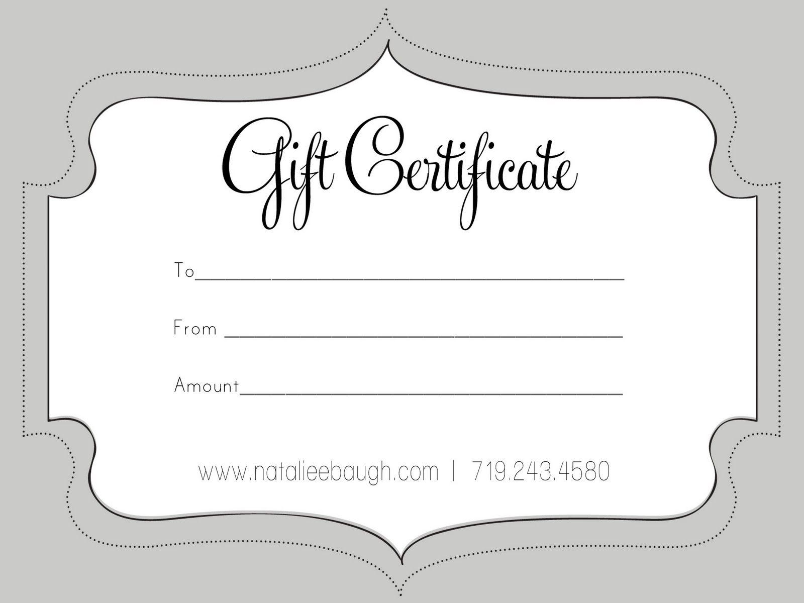 A Cute Looking Gift Certificate   S P A   Pinterest   Free Gift - Free Printable Gift Certificates For Hair Salon