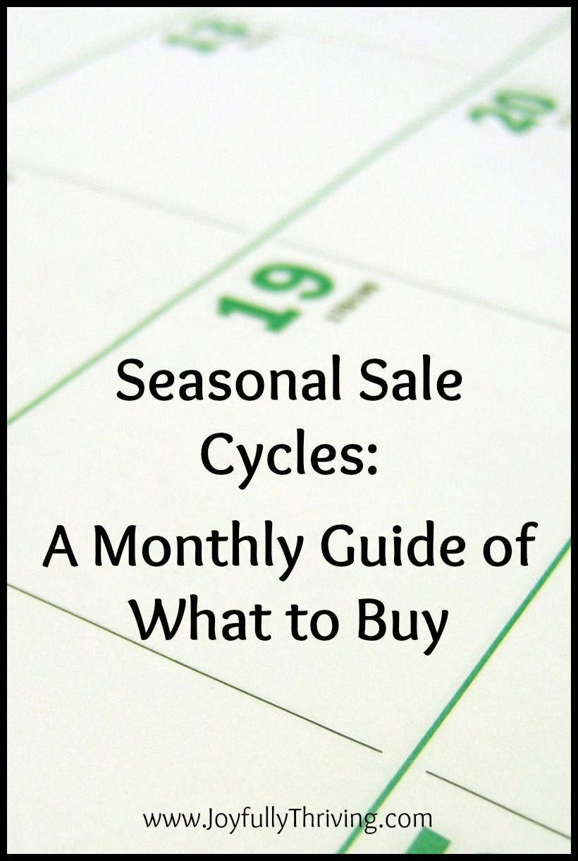 A Free Printable Guide To Seasonal Sale Cycles | !pinned Over 1,000 - Free Printable Coupons Without Downloads