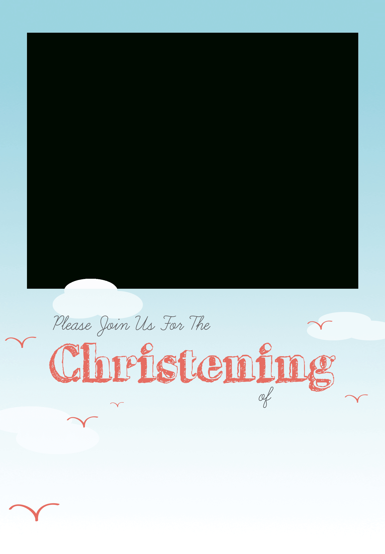 All Smiles - Free Printable Baptism & Christening Invitation - Free Printable Baptism Greeting Cards
