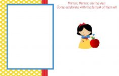 Snow White Invitations Free Printable