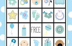 Printable Baby Shower Bingo Games Free