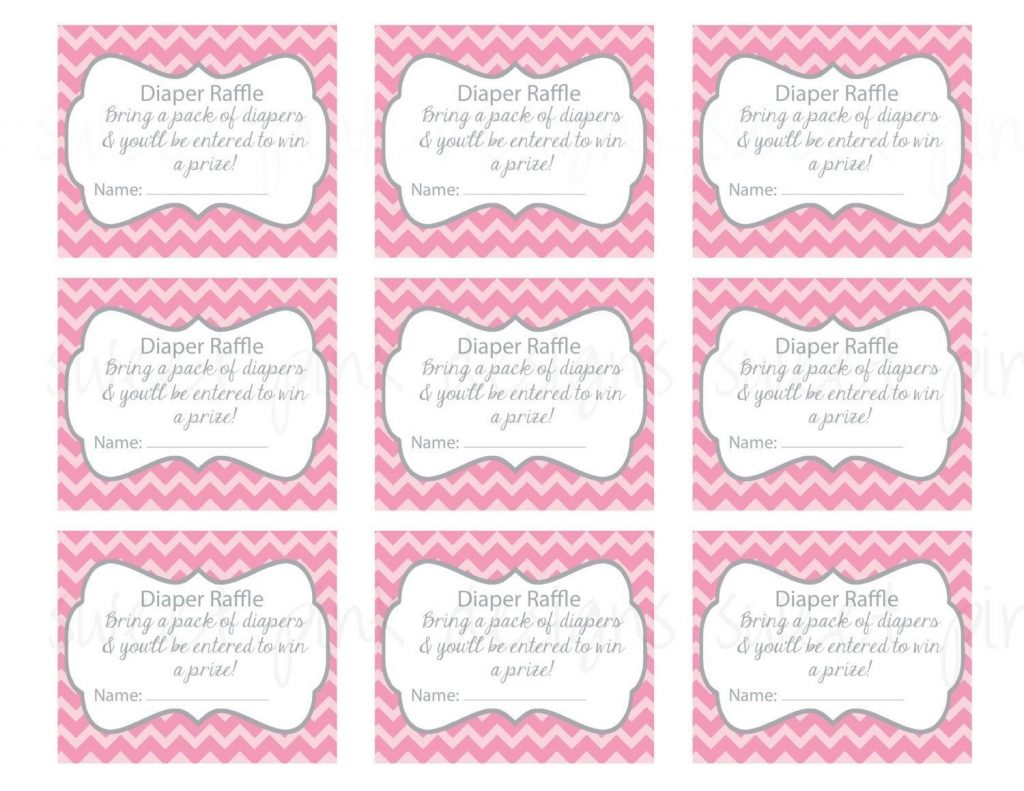 Baby Shower Raffle Tickets Printable - Baby Shower Ideas - Diaper Raffle Template Free Printable