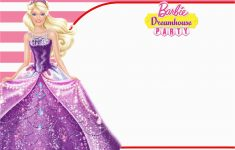 Free Printable Barbie Birthday Party Invitations