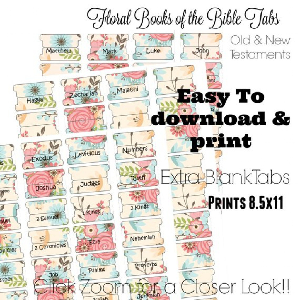 Bible Tabs Printable Bible Tabs Bible Journaling Tabs   Etsy - Free Printable Books Of The Bible Tabs