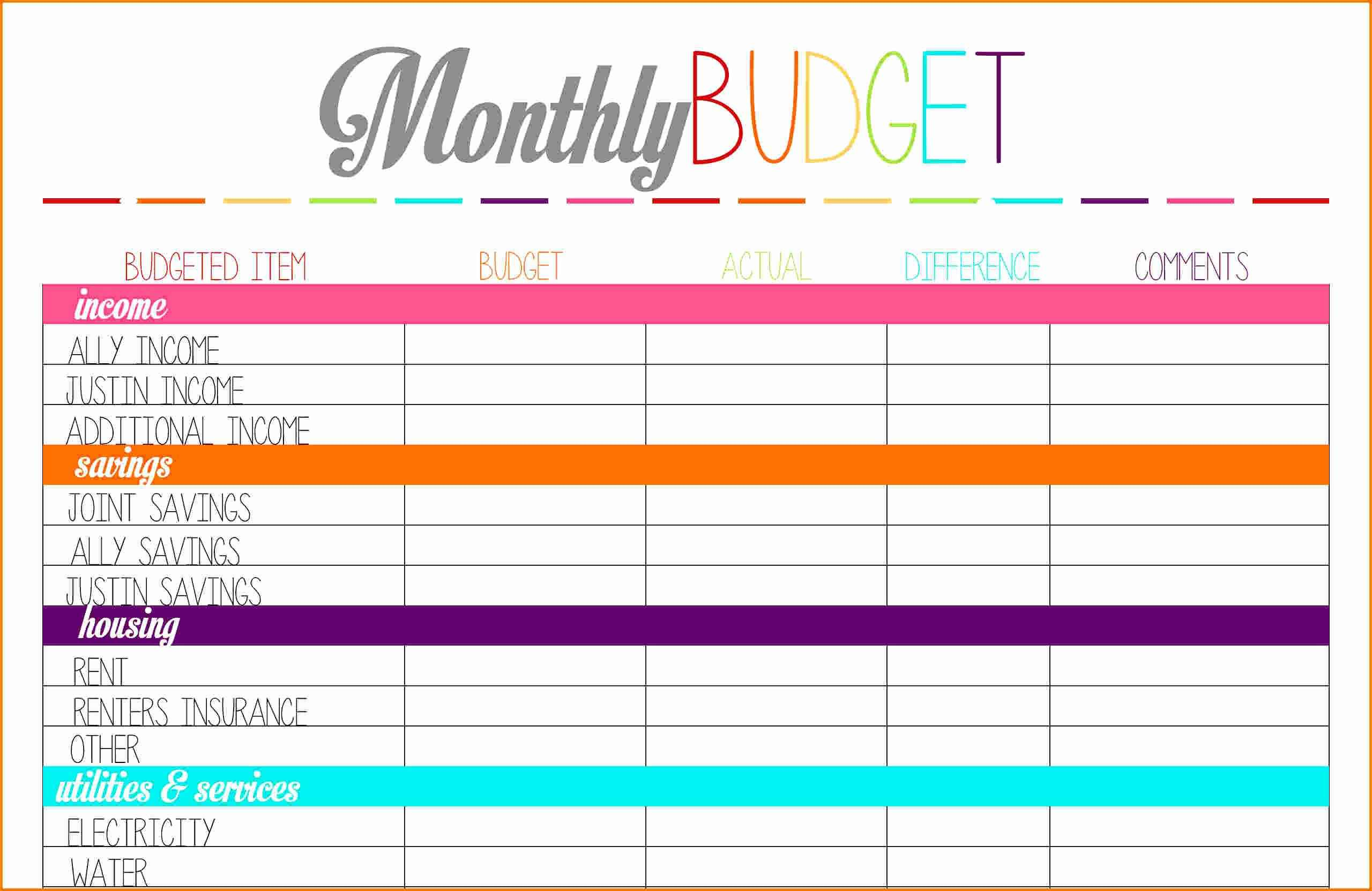 Bill Tracker Template Also Financial Planning Spreadsheet Free And - Free Printable Bill Tracker
