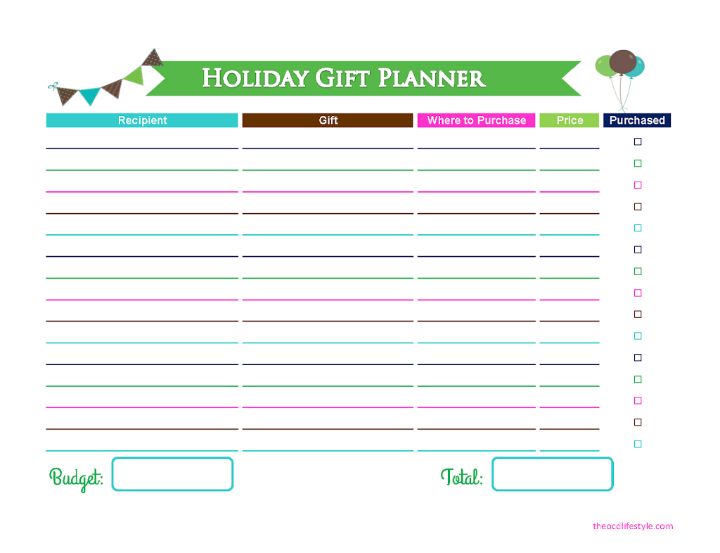 Birthday Party Guest List + Gift Planning Printables! - Free Printable Birthday Guest List