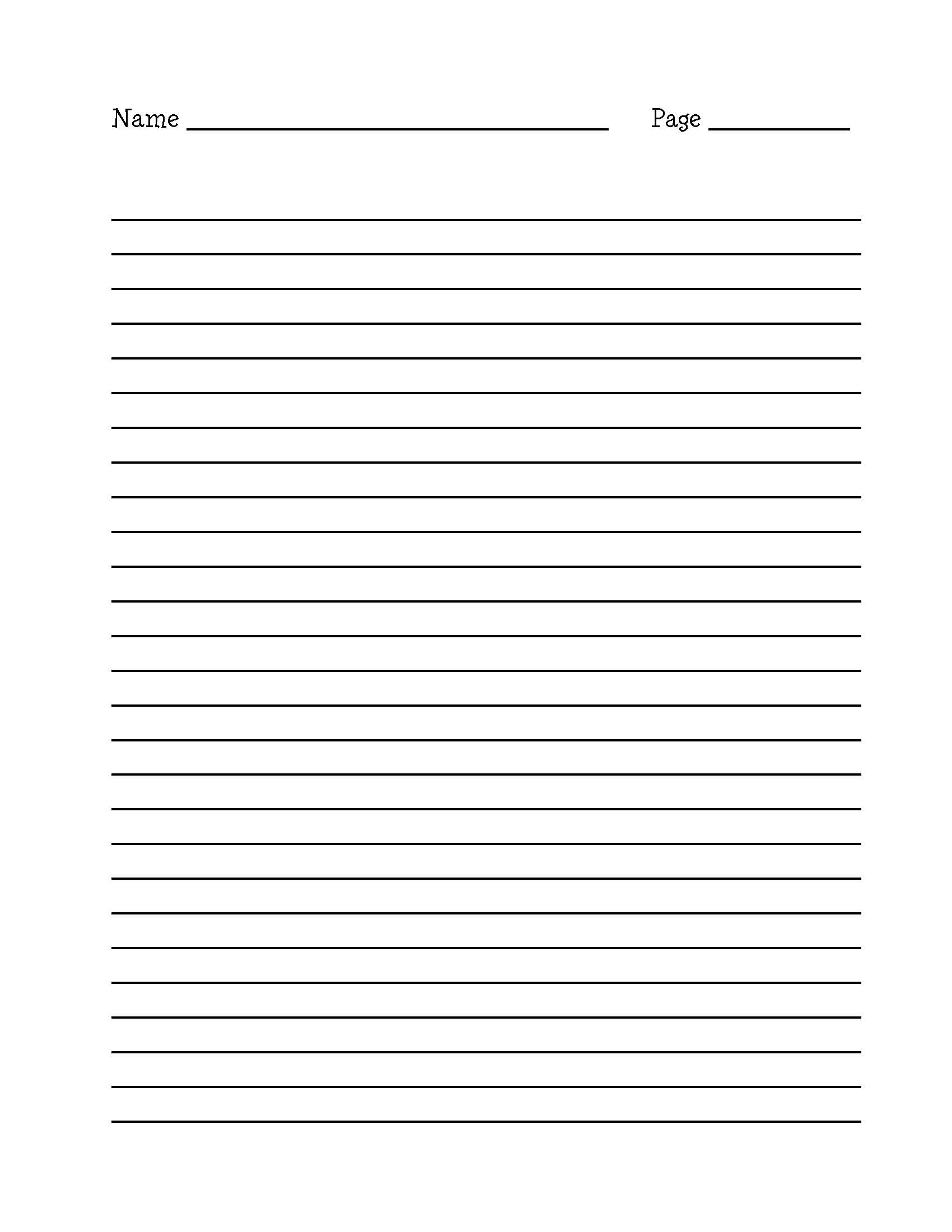 Blank Editable Lined Paper Template Word Pdf   Lined Paper Template - Free Printable Lined Paper