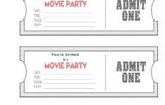 Free Printable Ticket Invitation Templates