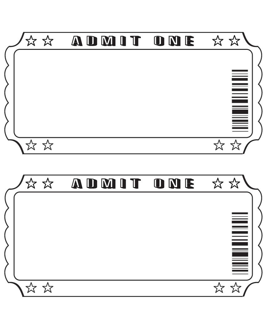 Blank Ticket … | Diy And Crafts | Pinte… - Free Printable Admission Ticket Template