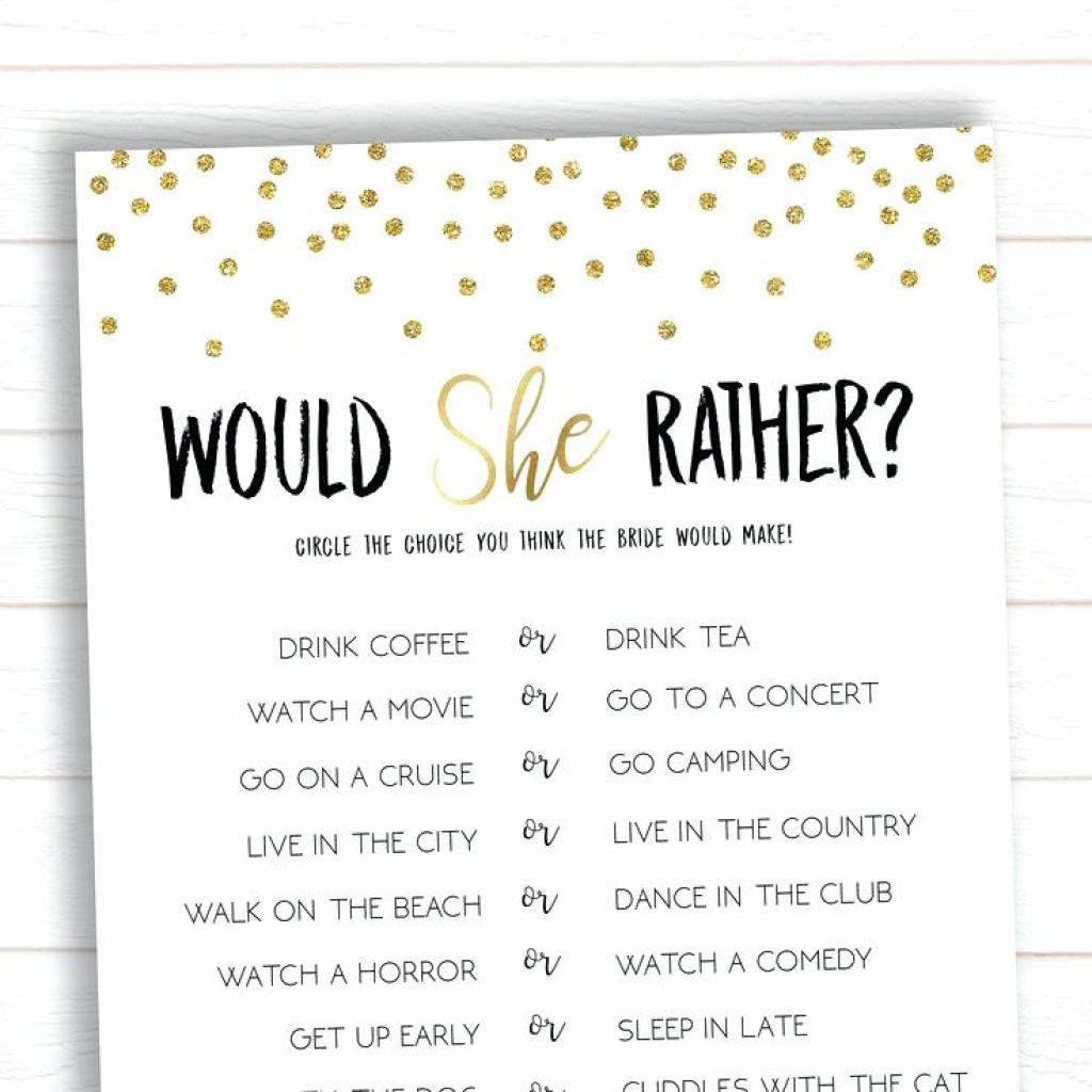 Bridal Shower Game Ideas Free Printable How Well Do You Know The - How Well Do You Know The Bride Free Printable