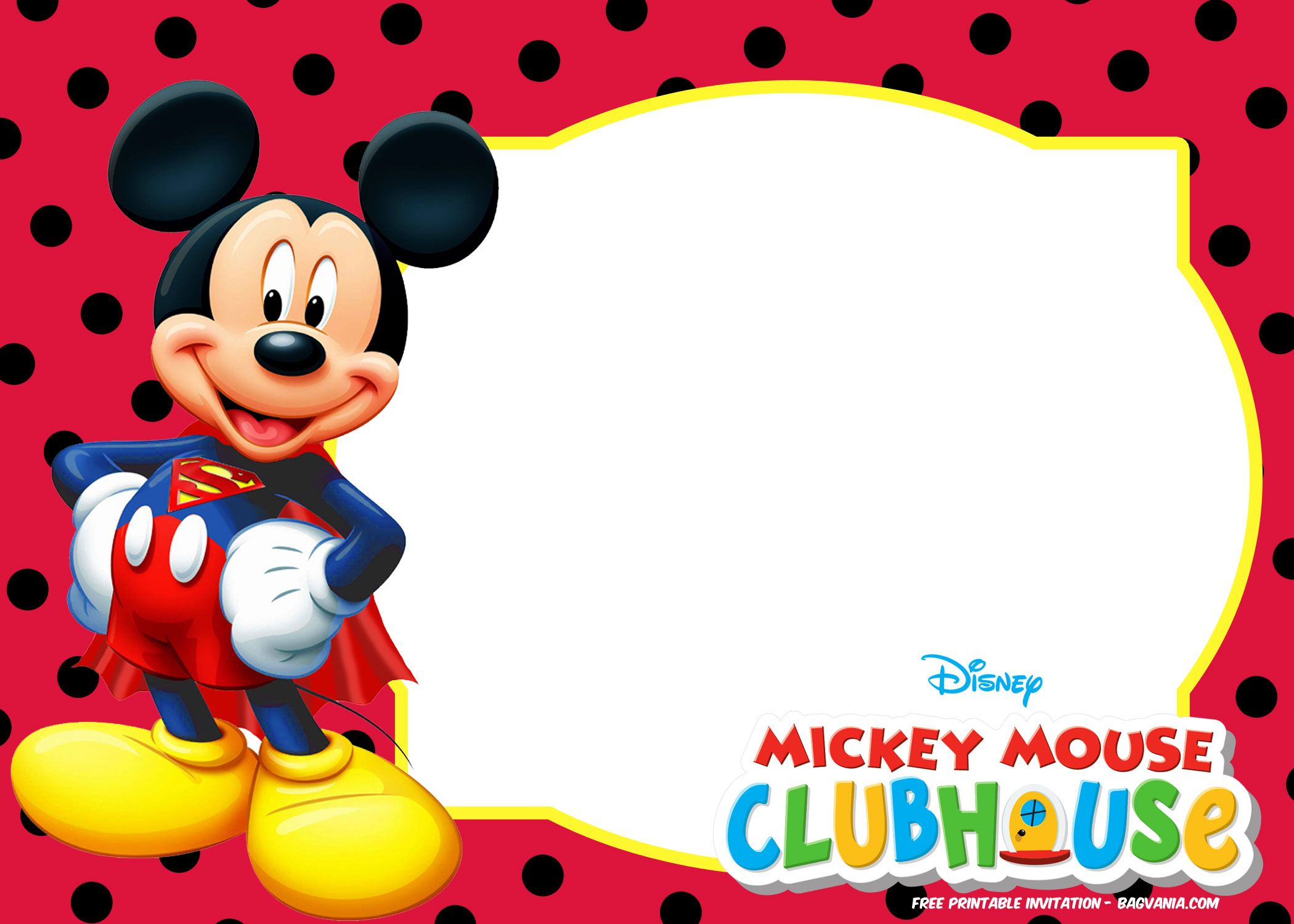 Budget-Friendly Mickey Mouse Birthday Party Ideas - Ideas, Recipes - Free Mickey Mouse Printable Templates