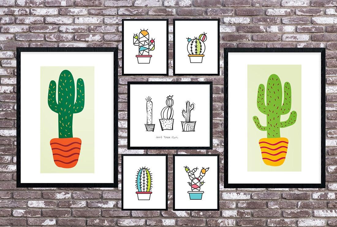 Cactus Art Roundup: 55 Awesome Free Printables • Little Gold Pixel - Free Printable Cactus