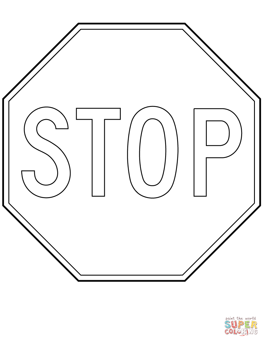 Canada Stop Sign Coloring Page   Free Printable Coloring Pages - Free Printable Stop Sign To Color