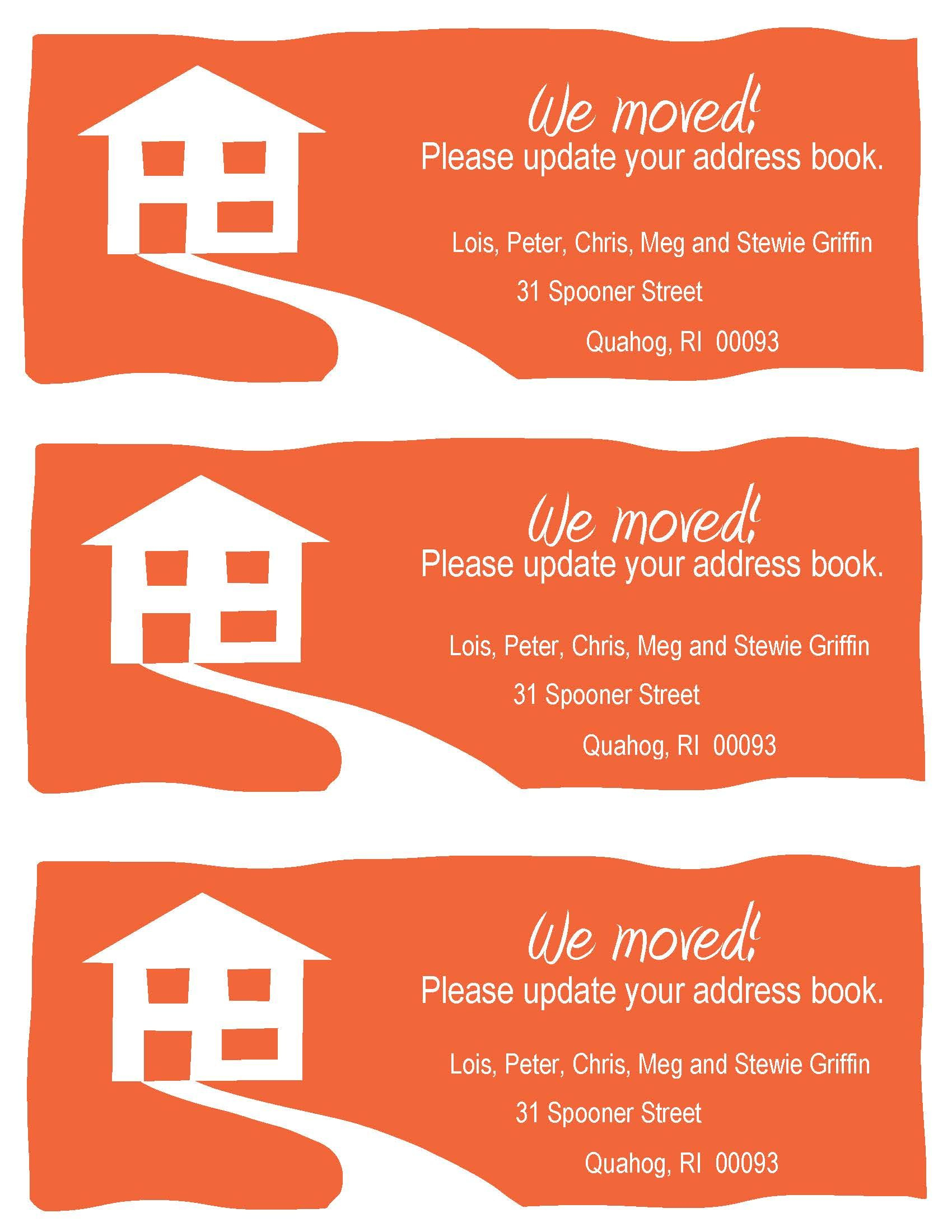 Change-Of-Address Cards, A Fun Example. Free Printable In Your - Free Printable Change Of Address Cards