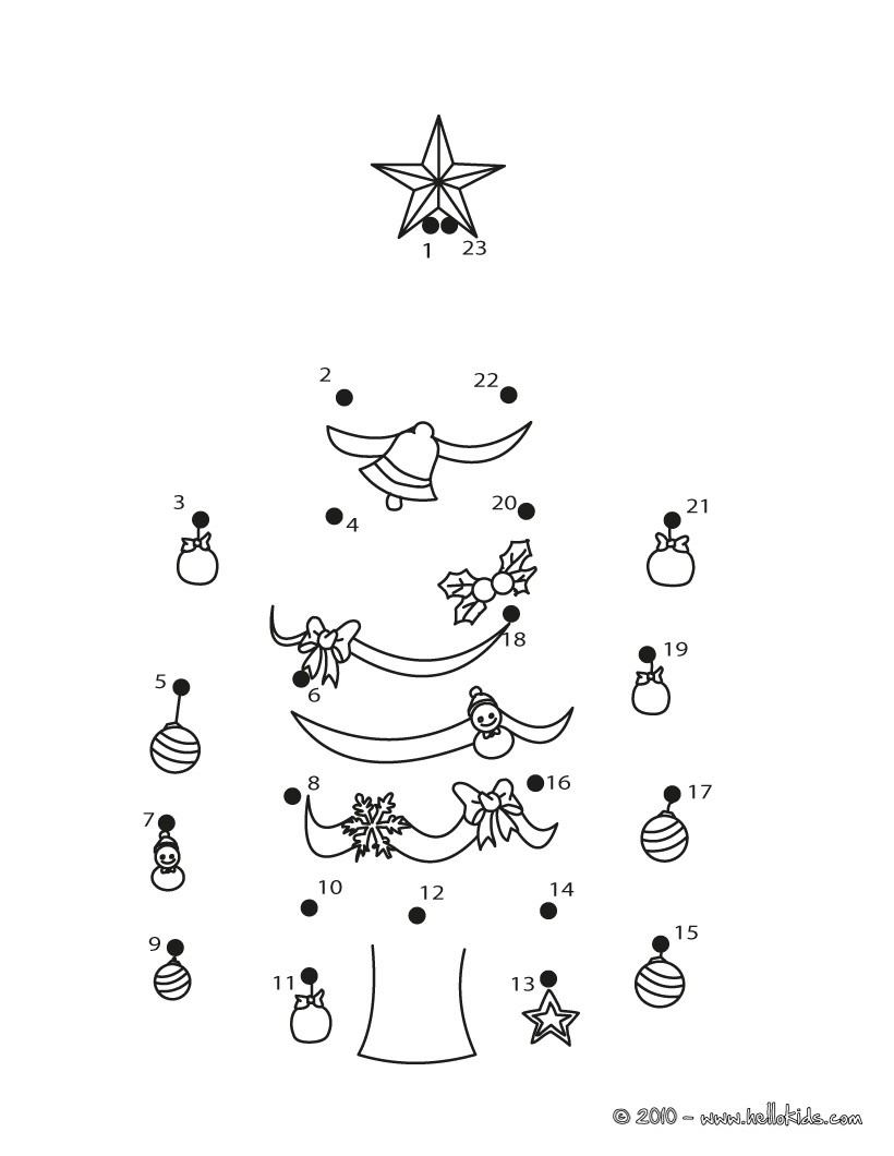Christmas Dot To Dot - 24 Free Dot To Dot Printable Worksheets For Kids - Free Christmas Connect The Dots Worksheets Printable