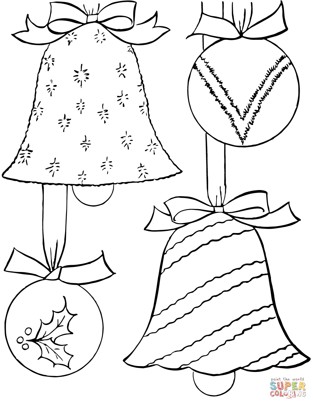 Christmas Ornaments Coloring Page | Free Printable Coloring Pages - Free Printable Christmas Tree Ornaments To Color
