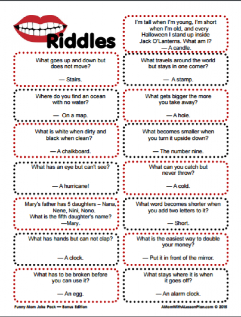 Clever Riddles For Kids With Answers (Printable Riddles!)   For The - Free Printable Riddles