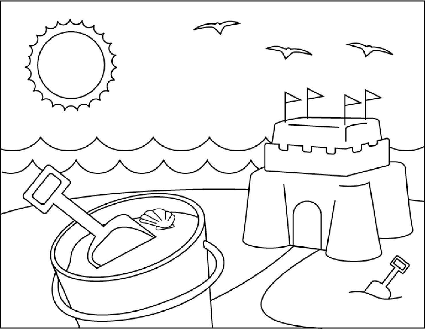 Coloring Pages : Coloring Pages Proven The Word Summer Page - Free Printable Beach Coloring Pages
