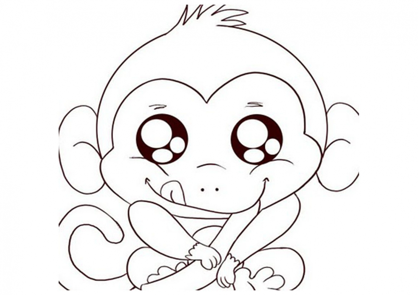 Coloring Pages : Free Printable Monkey Coloring Pages For Kids Pagee - Free Printable Monkey Coloring Pages