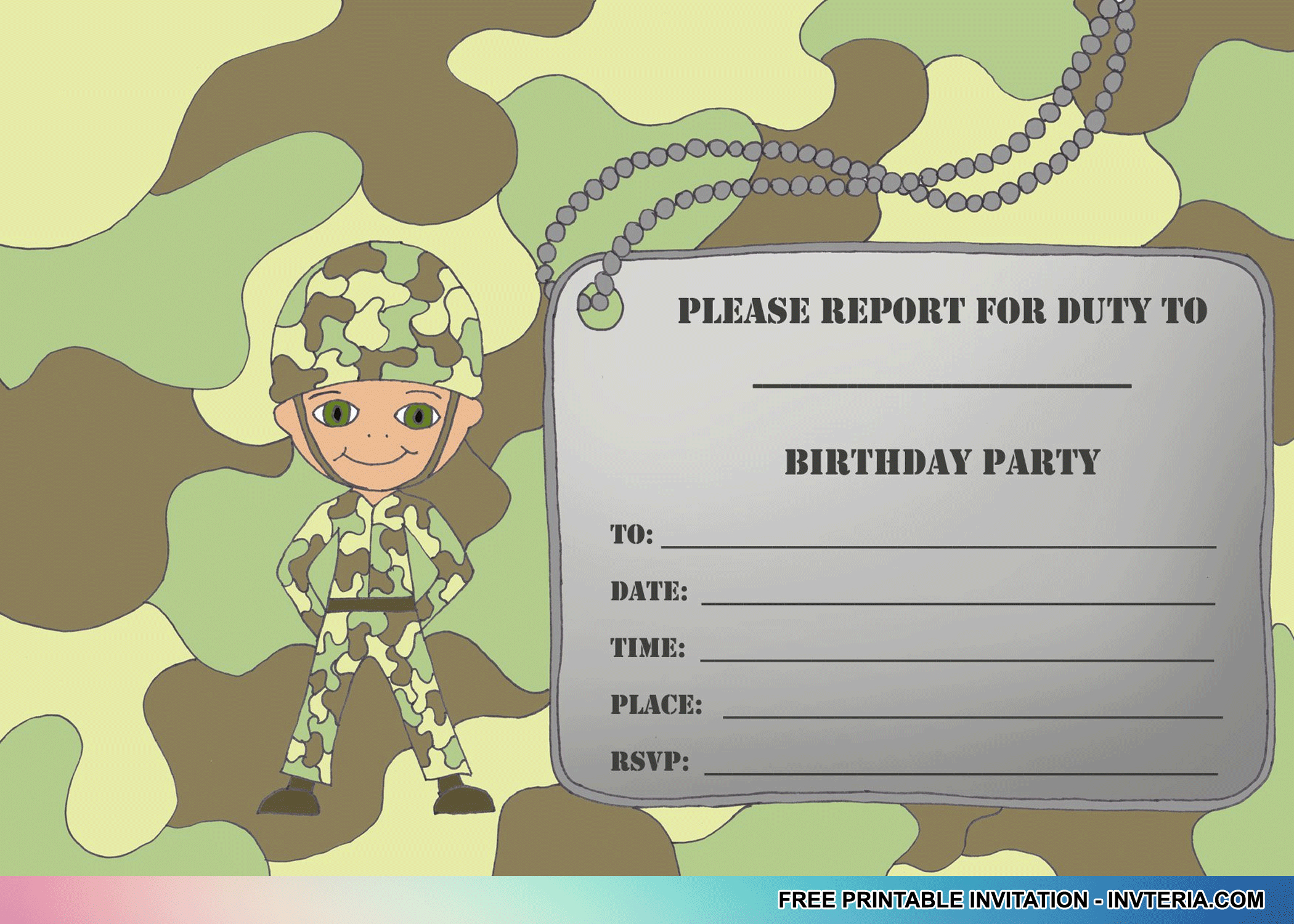 Cool Best Free Printable Boys Birthday Invitations Idea | Invitation - Free Printable Camouflage Invitations