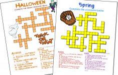 Free Online Printable Crossword Puzzles