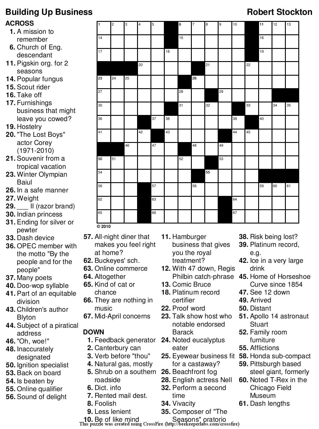 Crossword Puzzle Printable Large Print Puzzles Easy ~ Themarketonholly - Free Printable Word Search Puzzles Adults Large Print