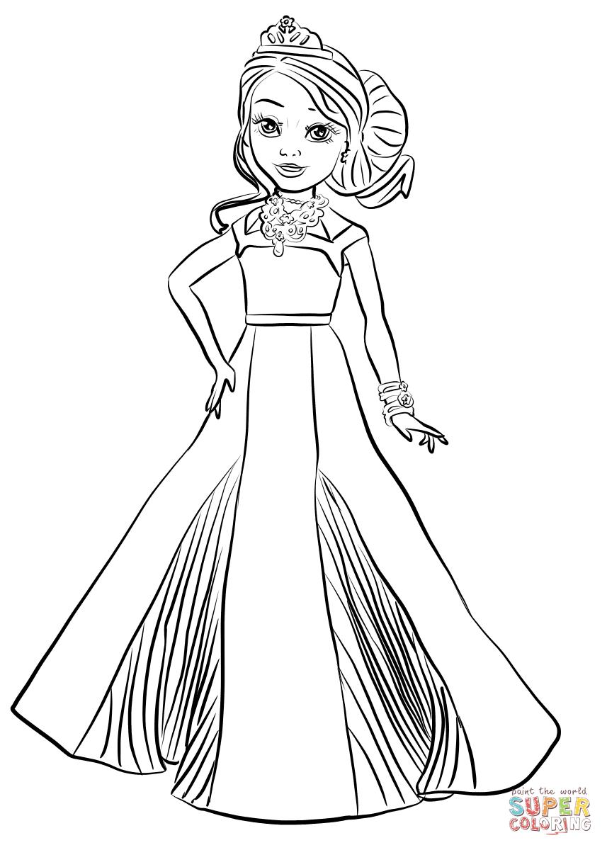 Disney Descendants Auradon Coronation Audrey Coloring Page   Free - Free Printable Descendants Coloring Pages