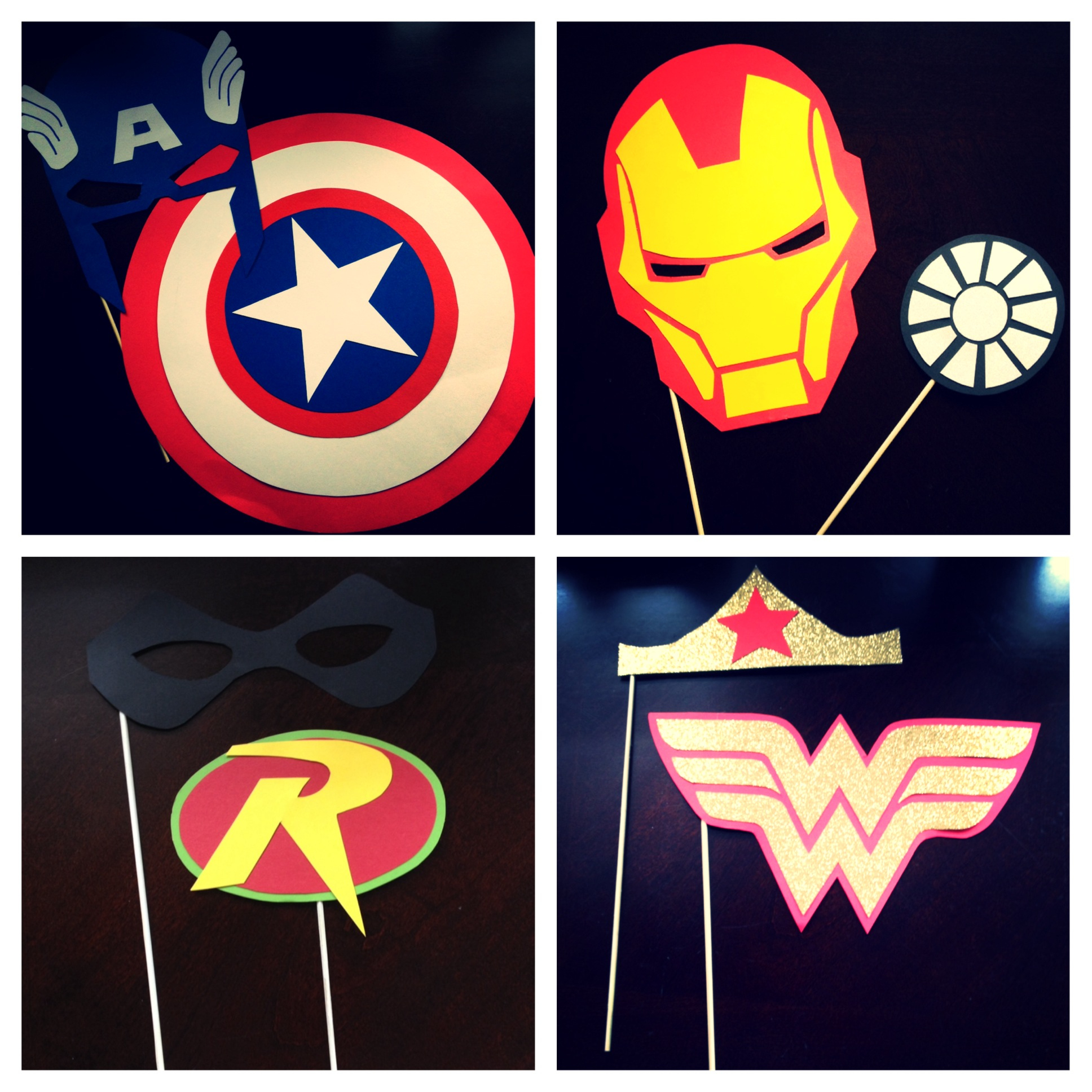 "Diy Superhero ""photo Booth Props"" - Every Day Should Sparkle - Free Printable Superhero Photo Booth Props"