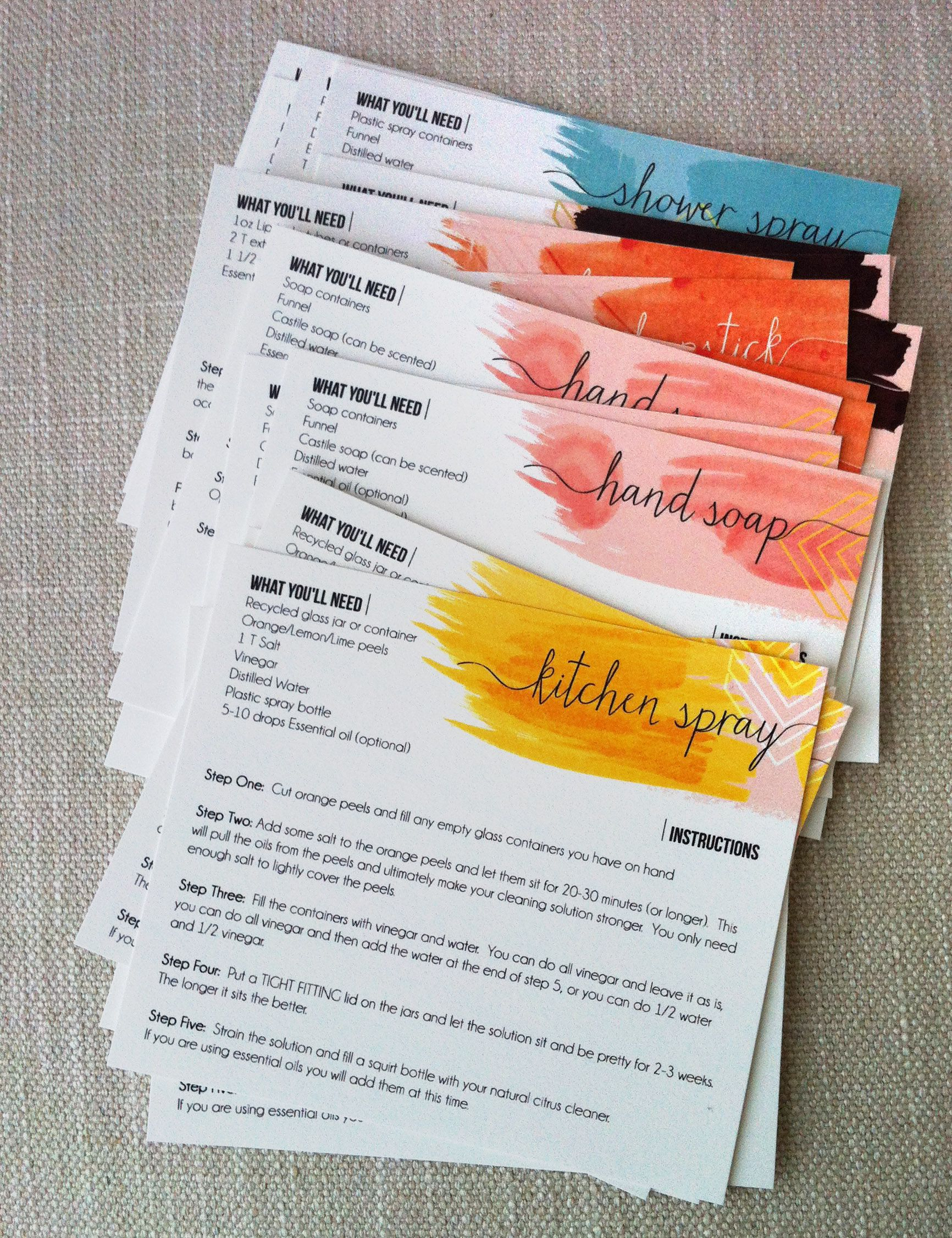 Diyproduct-Recipe-Cards   Aromatherapy   Essential Oils, Yl - Free Printable Doterra Sample Cards
