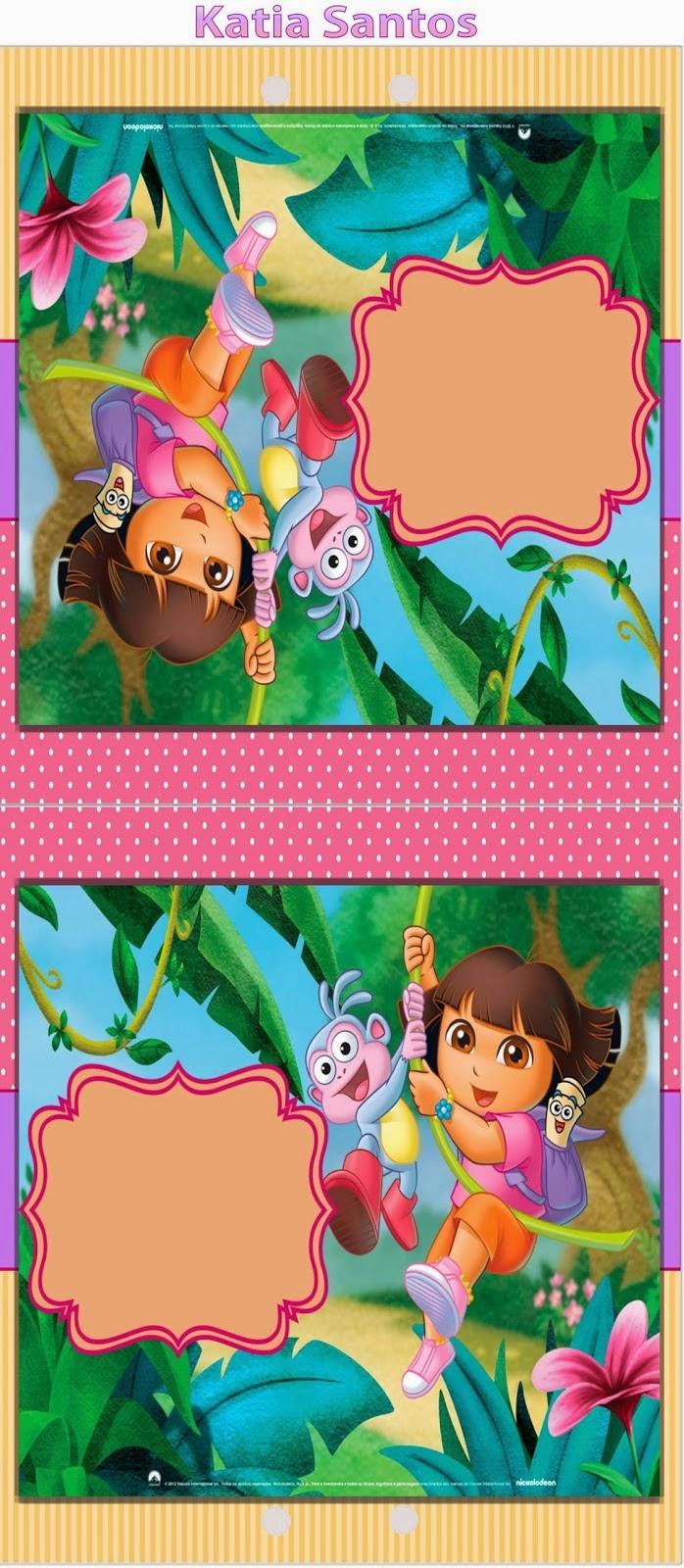 Dora The Explorer: Free Printable Invitations, Boxes And Party - Dora The Explorer Free Printable Invitations