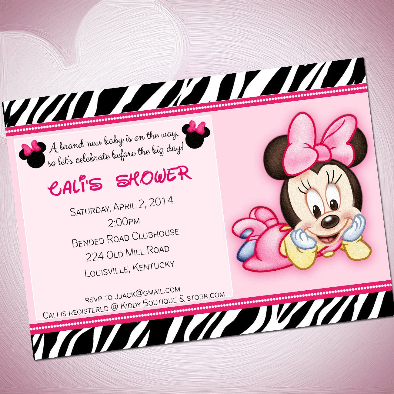 Download Free Template Cute Minnie Mouse Baby Shower Invitations - Free Printable Minnie Mouse Baby Shower Invitations