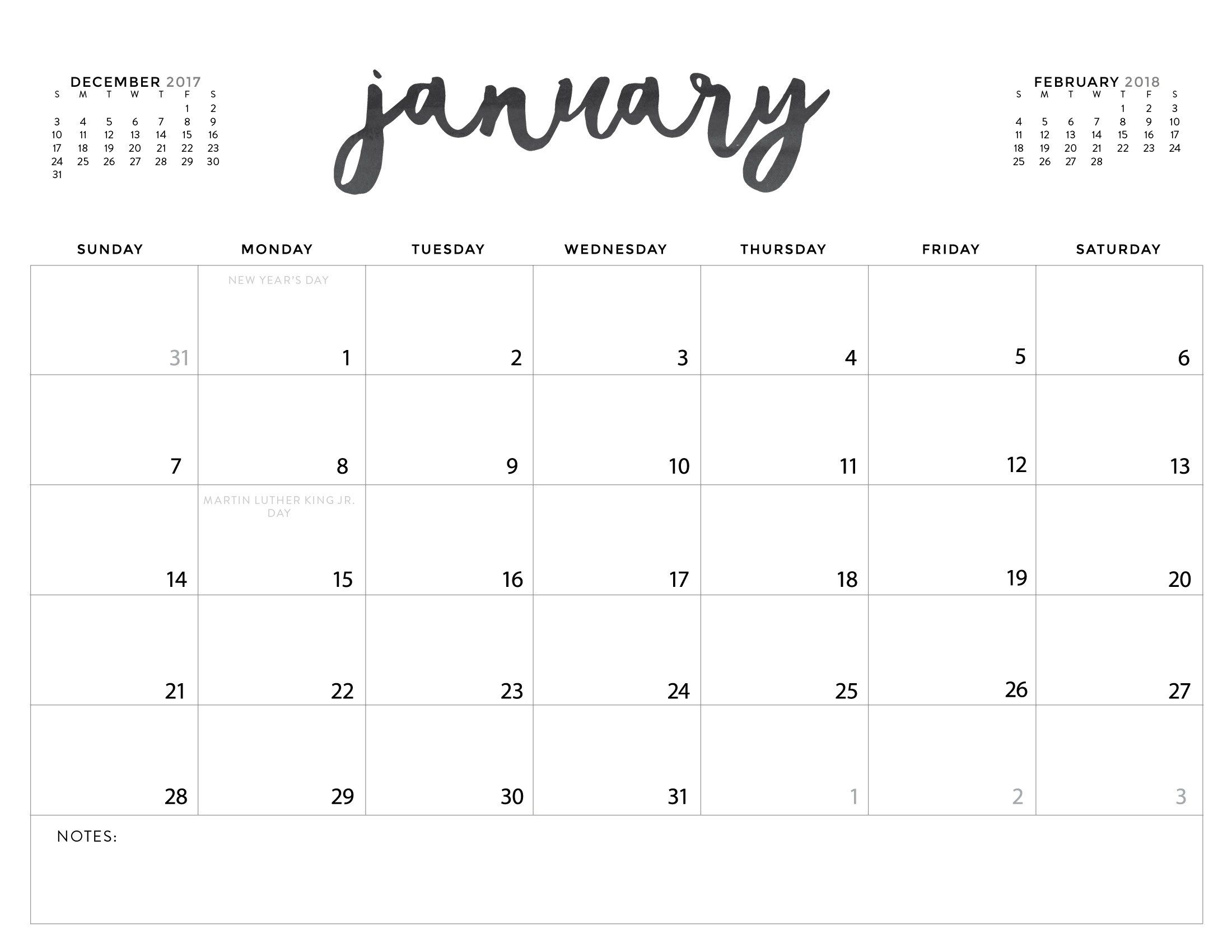 Download Your Free 2018 Printable Calendars Today! There Are 28 - Free Printable Ruler
