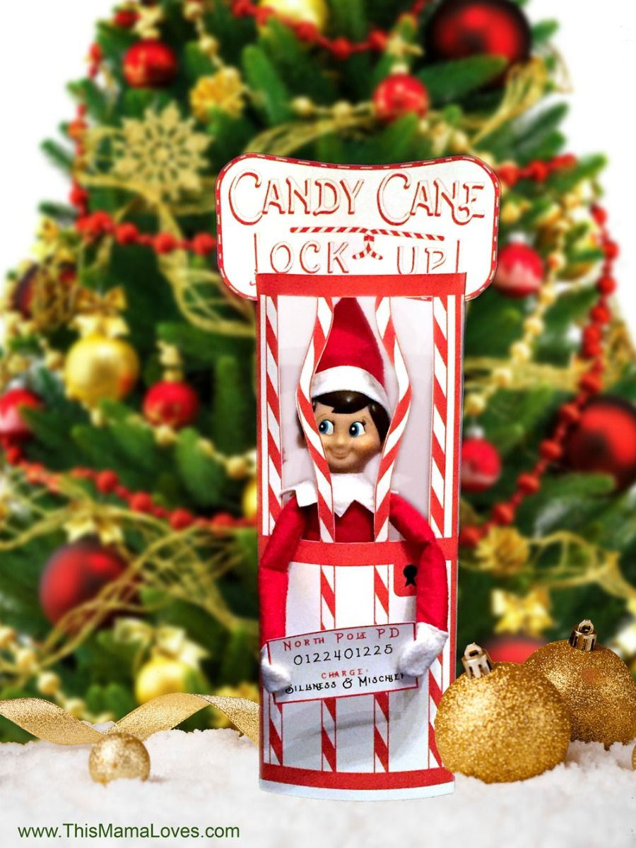 Elf On The Shelf Idea: Candy Cane Jail | Christmas | Pinterest | Elf - Elf On The Shelf Kissing Booth Free Printable