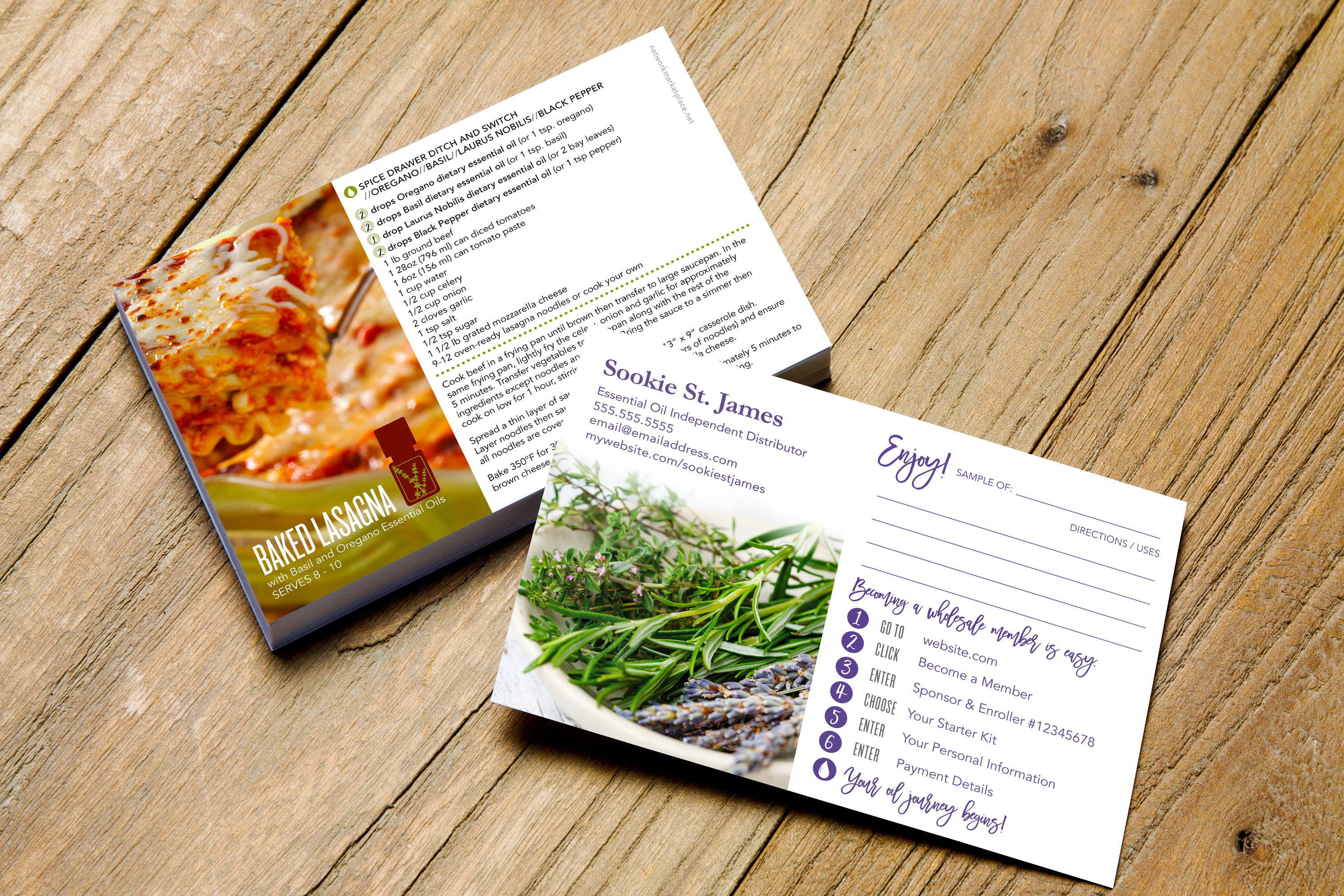 Essential Oils Marketing Personalized Sample Card W/   Etsy - Free Printable Doterra Sample Cards