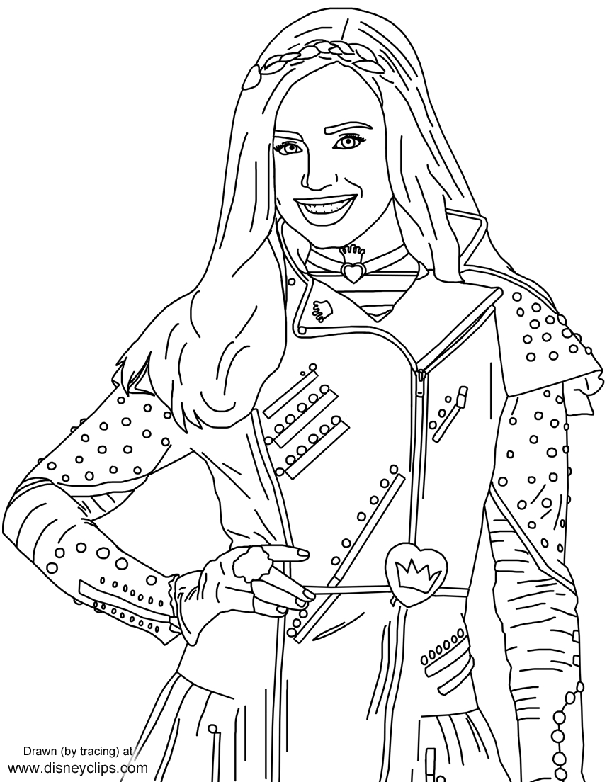 Evie From Disney's #descendants   Free Printables   Coloring Pages - Free Printable Descendants Coloring Pages