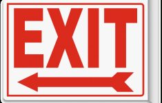Exit (Left Arrow) 2-Way Sign A5102 -Safetysign For Free Printable – Free Printable Exit Signs With Arrow